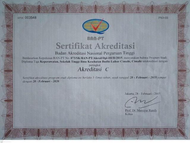 Akreditasi Prodi DIII keperawatan