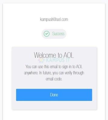 mendaftar dan membuat email AOL