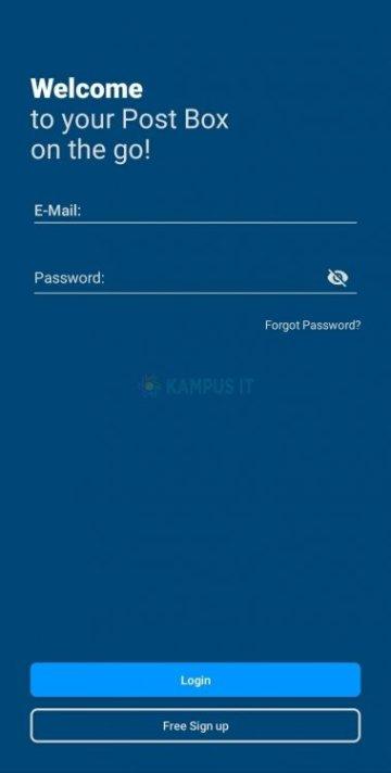 Cara membuat email Mailcom di HP Android