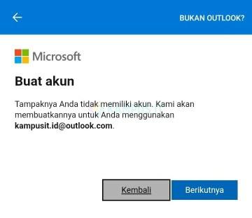 Cara membuat email Outlook di Android