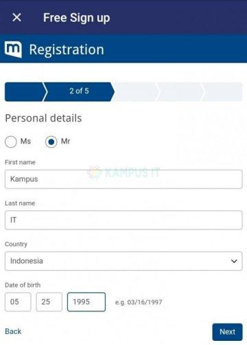 Membuat email Mailcom di HP Android