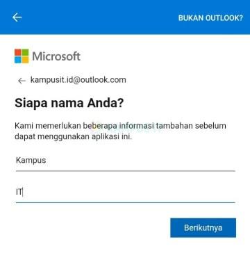 Membuat email Outlook di Android