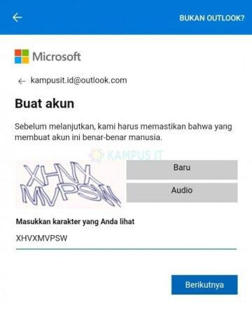 Tutorial membuat email Outlook di Android