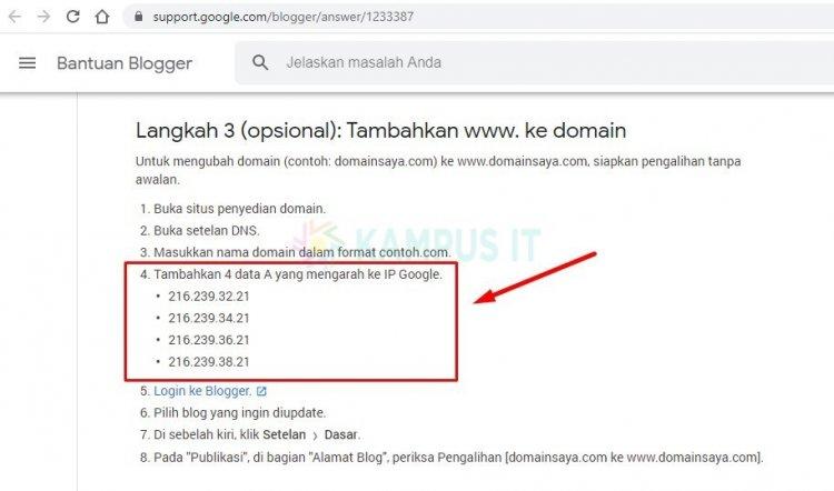 Cara Praktis Custom Domain Blogger