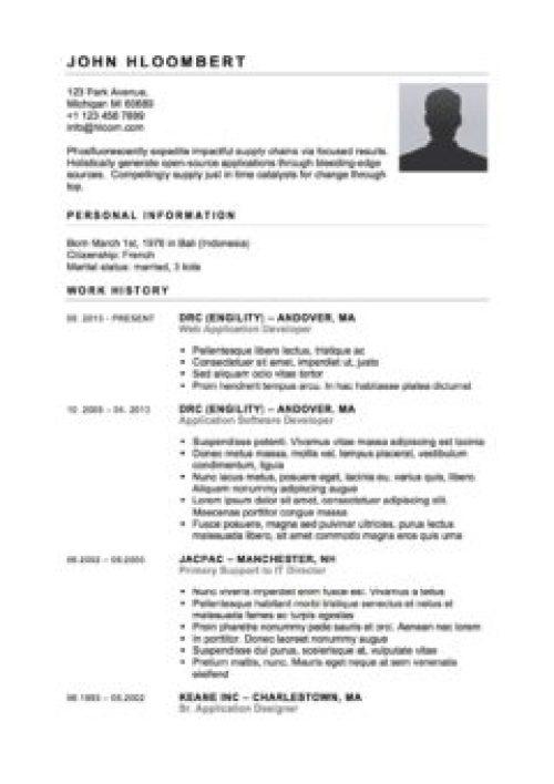 Contoh Curriculum Vitae Bahasa Inggris Lamaran Kerja