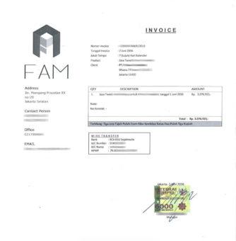 Contoh Invoice Tips Ampuh Agar Cepat Dibayar Kampusunjcom