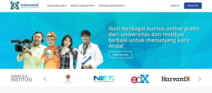 Situs kuliah online gratis, IndonesiaX.co.id