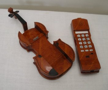 That's no violin--it's a phone!