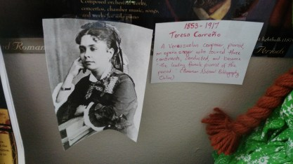 Teresa Carreño, Venezuelan composer, conductor, pianist, and opera singer.