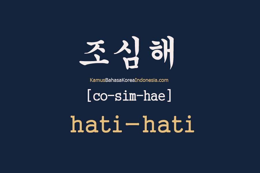 Belajar Kosakata Bahasa Korea Seharihari dan artinya