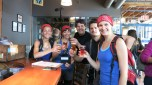 "Granville Island Brewery treated us with beer flights after performing ""Wannabe"" of the spice girls"