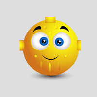 Cute Robot Emoticon