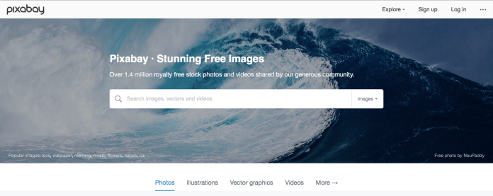 situs penyedia gambar gratis pixabay