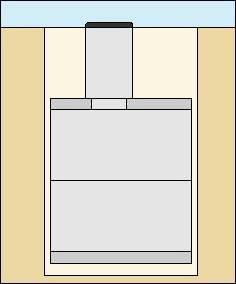 Схема колодца канализационного из колец