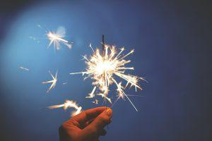 kembang api, perayaan tahun baru