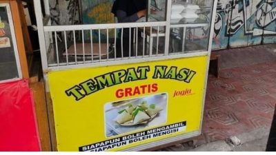 etalase tempat nasi gratis jogja