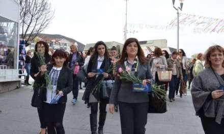Традиционален осмомартовски марш на струмичките социјалдемократки