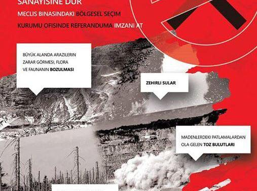 Флаери против рудникот Казандол и на турски јазик