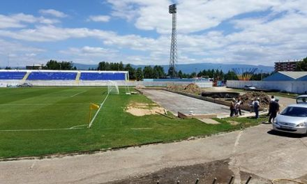 Почна поставувањето дополнителни  трибини на стадионот Младост во Струмица