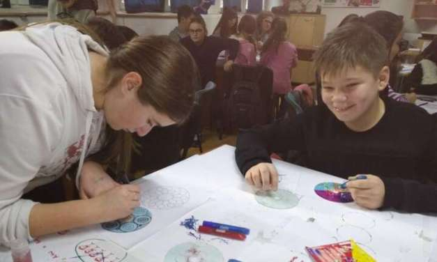 Фото и видео – Ученици од Сандо Масев со геометриски операции изработуваат уметнички фигури