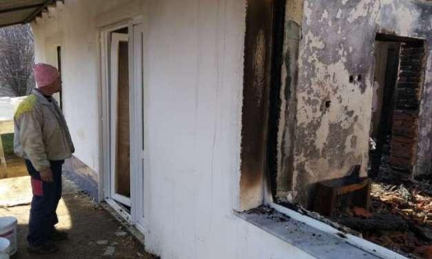 Пожар го пеплоса домот на Ристови во струмичко Дукатино