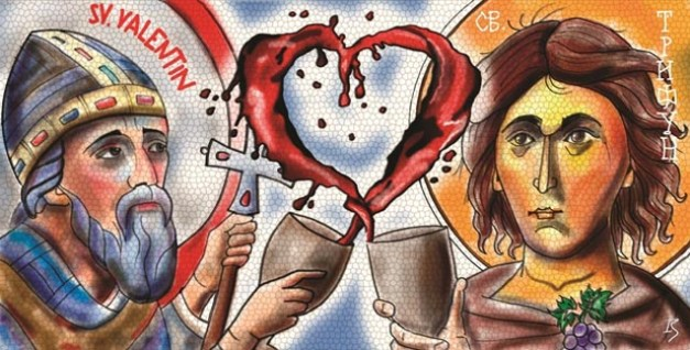 Младите со перформанс за Свети Трифун и Валентин на струмичкиот плоштад