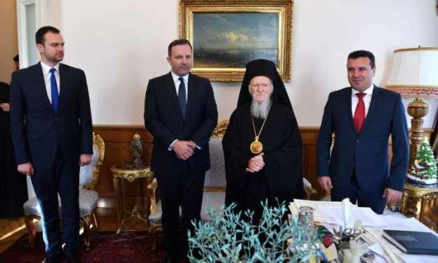 Премиерот Спасовски се сретна со вселенскиот Патријарх г.г. Вартоломеј