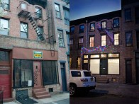 Before and after brownstone exterior