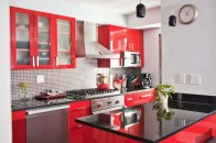A lively splash of color in the kitchen