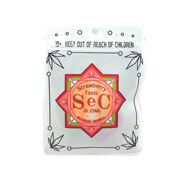 SeC StrawberryFeels50mgCBD Front 600x600