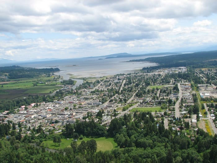 City of Courtenay aerial view 2008