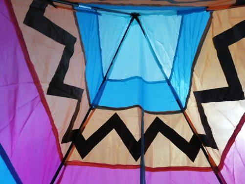 フライングタイガーのテントの中