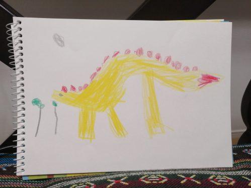 子どもが描いた恐竜
