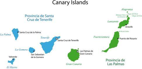 Kanarische Inseln Karte