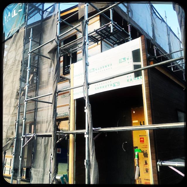 太田市新野町 外壁工事中