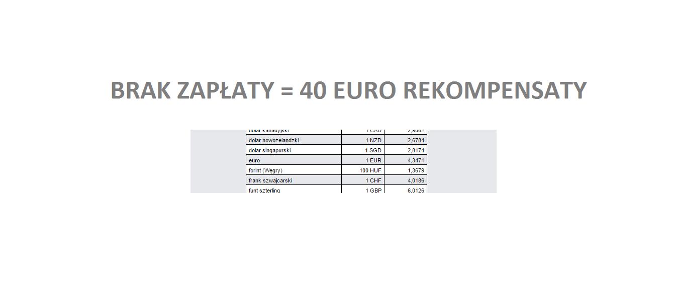 40 Euro Za Niezapłaconą Fakturę Niezależnie Od Poniesionych Kosztów