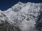 Kanchenzonga South and Zemu Peak from Rinpoche Temple Peak