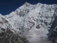 Kanchenzonga South and Zemu Peak from Rinpoche Temple Peak