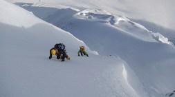Parete d'accesso alla cresta della Cima Nord del South Simvo