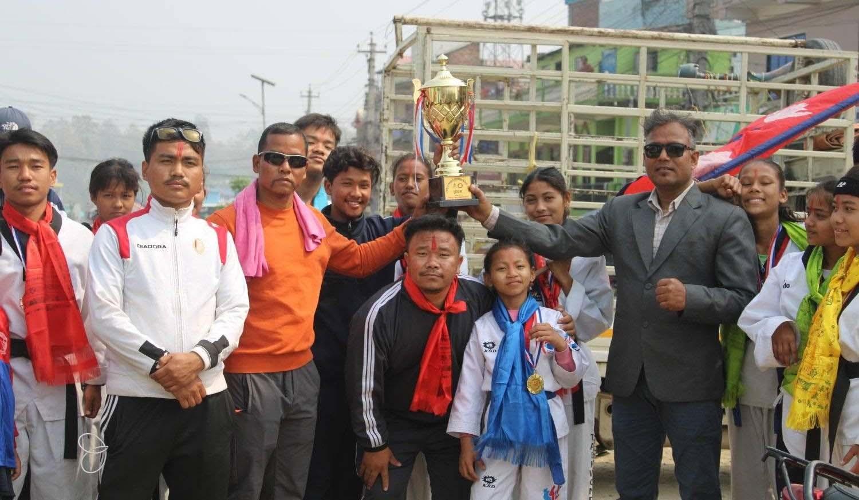राष्ट्रिय तेक्वान्दो प्रतियोगितामा लुम्बिनी प्रदेश प्रथम