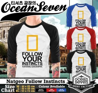 Natgeo Follow Instincts - Raglan