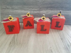 Read more about the article Wooden Pumpkin Blocks With Sunflowers