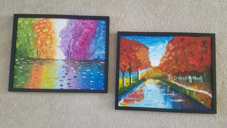 Read more about the article Thick Acrylic Textured Fall Paintings