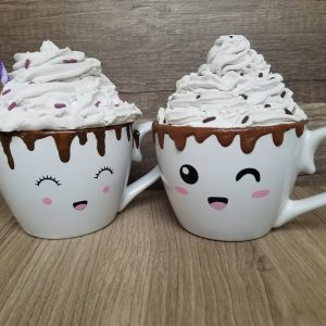 SVG File Of Hot Chocolate Faces And Chocolate Drips