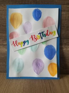 Read more about the article Follow Along To Make A Birthday Card With Balloons