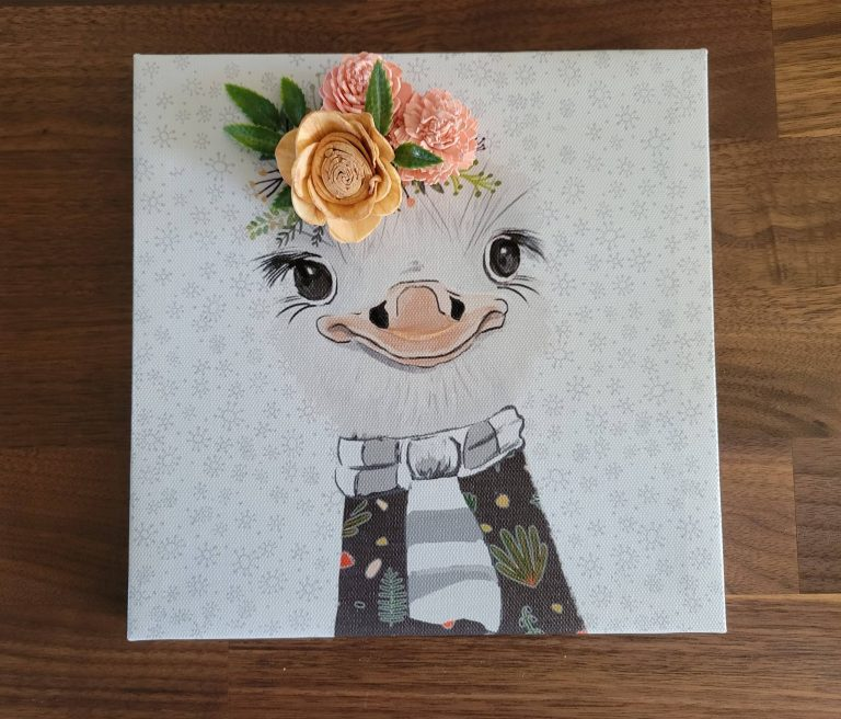 Read more about the article How To Make An Animal Canvas With Flowers