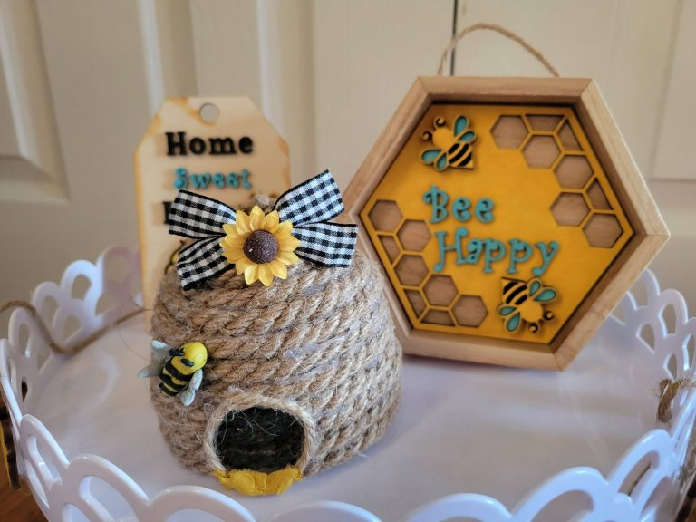 Read more about the article Part 2 Of Bee Theme Tier Tray Items – Bee Hive