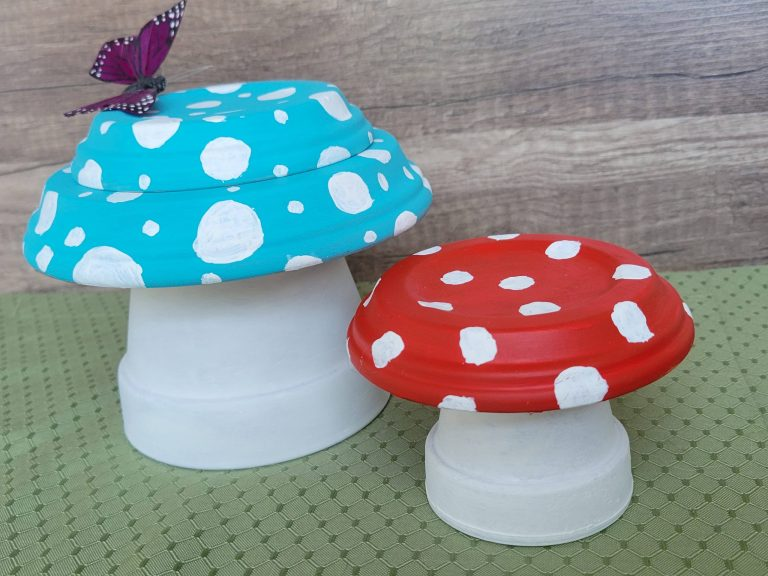 Read more about the article DIY Terra Cotta Pot Mushrooms