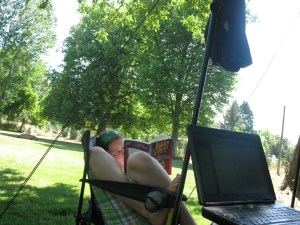 """<img=""""relaxing during campout"""">"""