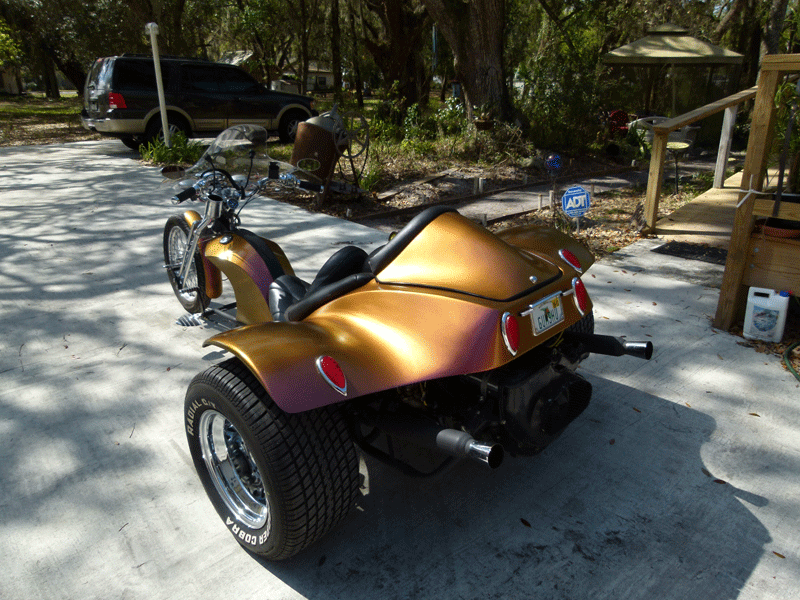 Kustom Kameleon Trike Paint Job on a Trike with our 4739OR.
